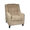 Ave Six Curves Tufted Accent Chair in Coffee Velvet