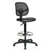 "Office Star Deluxe Mesh Back Drafting Chair with 20"" Diameter Foot ring"