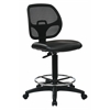 "Deluxe Mesh Back Drafting Chair with 20"" Diameter Foot ring"