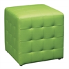 "Detour 15"" Green Fabric Cube"