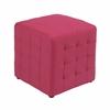 "Detour 15"" Pink Fabric Cube"