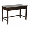 "Devonshire 47"" Desk in Cabernet Finish With Dual Storage Drawers & Solid Wood Legs"