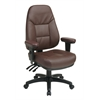 Office Star Professional Dual Function Ergonomic High Back Leather Chair with Adjustable Padded Arms