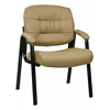 Bonded Leather Visitors Chair with Steal Base and Padded Arms