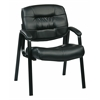 Office Star Bonded Leather Visitors Chair (Black)