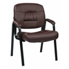 Office Star Bonded Leather Visitors Chair (Burgundy)