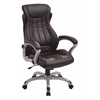 Office Star Bonded Leather Executive Manger's Chair (Silver/Black)
