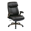 Office Star Executive Eco Leather Chair in Cocoa/Espresso