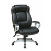 Office Star Executive Bonded Leather Chair in Silver/Black