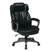 Office Star Executive Eco Leather Chair with Padded Arms