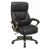 Office Star Executive Bonded Leather Chair with Padded Arms and Coated Base Featuring Coil Spring Comfort