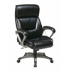 Office Star Executive Bonded Leather Chair with Padded Arms and Coated Base Featuring Coil Spring Seating Comfort