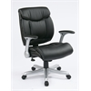 Office Star Executive Eco Leather Chair in Silver/Black