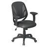 "Office Star Screen Back Managers Chair with Black Urethane and Mesh Seat with Urethane  Padded  ""T"" Arms"
