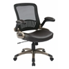 Office Star Screen Back and Bonded Leather Seat Managers Chair
