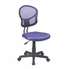 Office Star Mesh Task chair in Purple Fabric