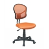 Mesh Task chair in Orange Fabric