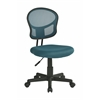 Office Star Mesh Task chair in Blue Fabric