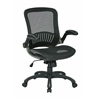Office Star OSP Office Black Chair with Titanium Finish