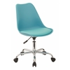 Office Star Emerson Student Office Chair With pneumatic Chrome base in Teal Finish