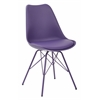Office Star Emerson Student Side Chair With 4 Leg base in Purple Finish