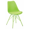 Office Star Emerson Student Side Chair With 4 Leg base in Green Finish