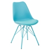 Office Star Emerson Student Side Chair With 4 Leg base in Teal Finish