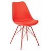 Office Star Emerson Student Side Chair With 4 Leg base in Red Finish