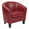Ethan Tub Chair in Deluxe Cranberry Vinyl Fabric