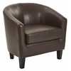Ethan Tub Chair in Deluxe Cocoa Vinyl Fabric