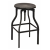 "Office Star Eastvale 30"" Metal Barstool In Antique Black Finish, Fully Assembled."