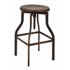 "Office Star Eastvale 30"" Metal Barstool In Antique Copper Finish, Fully Assembled."