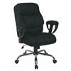 Office Star Executive Big Mans Chair with Mesh Seat and Back, Padded Height Adjustable Arms and Chrome Base