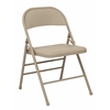 Office Star Folding Chair with Metal Seat and Back