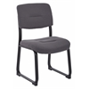 Office Star Woven Charcoal Fabric Visitor Chair with Sled Base