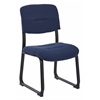 Office Star Woven Indigo Visitor Chair with Sled Base