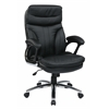 Office Star High Back Executive Faux Leather Chair with Padded Arms