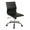 Office Star WorkSmart Thick Padded Black Faux Leather Seat and Back with Built-in Lumbar Support