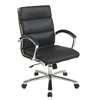 Office Star Mid Back Executive Black Faux Leather Chair