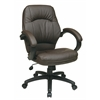 Deluxe Chocolate Faux Leather Managers Chair