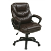 Office Star Faux Leather Managers Chair with Padded Arms