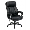 Office Star Oversized Faux Leather Executive Chair with Padded Loop Arms