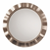 Office Star Cosmos Beveled Wall Mirror with Brushed Silver Round Wavy Frame