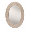 Office Star Rio Beveled Wall Mirror with White Mother of Pearl Oval Frame