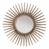 Office Star Ella Beveled Wall Mirror with Silver Pewter Sunbeam Frame