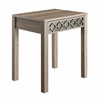 Helena End Table, in Greco OAK Finish with Mirror Accent Panel