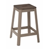 "Hammond 26"" Metal Barstool with Darkwood Seat and Frosted Cappuccino Frame Finish KD"