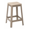 "Hammond 26"" Metal Barstool with Lightwood Seat and Frosted Cappuccino Frame Finish KD"