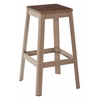 "Hammond 30"" Metal Barstool with Darkwood Seat and Frosted Cappuccino Frame Finish KD"