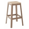 "Hammond 30"" Metal Barstool with Lightwood Seat and Frosted Cappuccino Frame Finish KD"